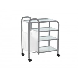 Столик косметологический (металл/стекло) - н04 BS