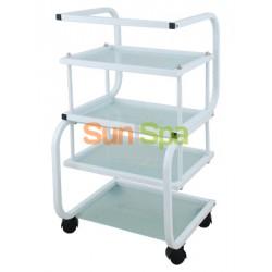Столик косметологический (металл/стекло) - н01 BS