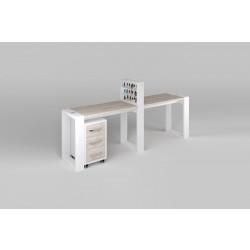 """Двухместный маникюрный стол с подставкой для лаков и тумбой """"Matrix"""""""