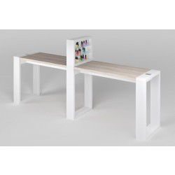 """Двухместный маникюрный стол с подставкой для лаков """"Matrix"""""""