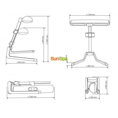 Домашний солярий Hapro Innergize HP8580 BS