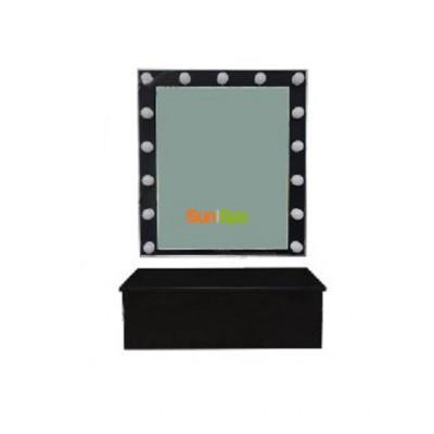 Зеркало для визажиста настенное + полка-ящик BS