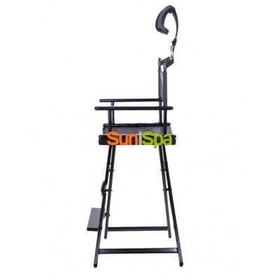 Алюминиевый стул визажиста-бровиста с подголовником BS